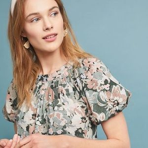 Maeve by Anthropologie Puff-Sleeved Blouse XSmall